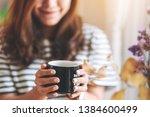 closeup image of a beautiful... | Shutterstock . vector #1384600499