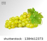 bunch of yellow or green grapes ... | Shutterstock .eps vector #1384612373