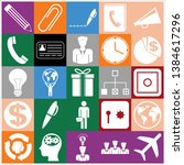 set of 25 business symbols of... | Shutterstock .eps vector #1384617296