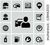 car dealership icons set   Shutterstock .eps vector #138462023