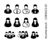vector people icons | Shutterstock .eps vector #138462110