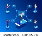vector  isometric illustration. ... | Shutterstock .eps vector #1384627343