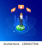 vector  isometric illustration. ... | Shutterstock .eps vector #1384627346