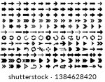 isolated arrow vector 3d button ... | Shutterstock .eps vector #1384628420