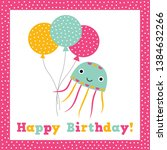 birthday vector greeting card... | Shutterstock .eps vector #1384632266