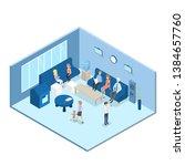 waiting hall in bank interior....   Shutterstock . vector #1384657760