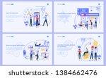 set of flat design concept... | Shutterstock .eps vector #1384662476