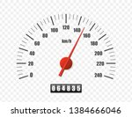 Realistic Speedometer Isolated...