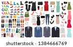 set of men's and women's shoes... | Shutterstock .eps vector #1384666769