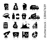 garbage icons | Shutterstock .eps vector #138467639