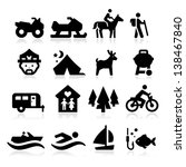 recreation icons | Shutterstock .eps vector #138467840