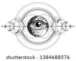 eye of providence. masonic... | Shutterstock .eps vector #1384688576
