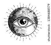 eye of providence. masonic... | Shutterstock .eps vector #1384688579