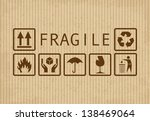 set of fragile symbols on...