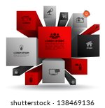 vector cube box for business... | Shutterstock .eps vector #138469136