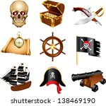 pirates icons detailed vector... | Shutterstock .eps vector #138469190