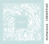 hand drawn floral square frame... | Shutterstock .eps vector #1384693160