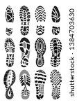 footprint sport shoes vector set | Shutterstock .eps vector #1384703630