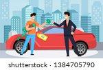buying car for winning money...   Shutterstock .eps vector #1384705790