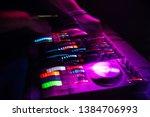 dj mixer controller with...   Shutterstock . vector #1384706993