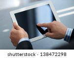 businessman holding digital... | Shutterstock . vector #138472298