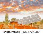 Solar Panels In Desert Under...