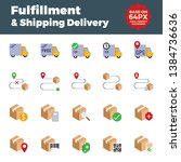 fulfillment and shipping... | Shutterstock .eps vector #1384736636