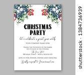 poinsettia merry christmas...   Shutterstock .eps vector #1384736939