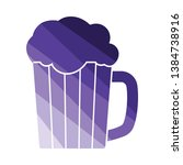 mug of beer icon. flat color...