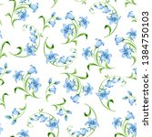 vector seamless pattern with... | Shutterstock .eps vector #1384750103