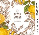 citrus frame design template.... | Shutterstock .eps vector #1384750970