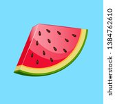 watermelon icon. juicy ripe...   Shutterstock .eps vector #1384762610