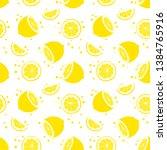 seamless background with lemon...   Shutterstock .eps vector #1384765916