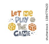 let the game begin. hand drawn... | Shutterstock .eps vector #1384779620