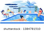 pool party rest summertime... | Shutterstock .eps vector #1384781510
