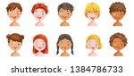 boys and girls set emotions ...   Shutterstock .eps vector #1384786733