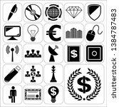 set of 22 business icons ... | Shutterstock .eps vector #1384787483