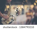Jazz Musician Playing Outdoor...