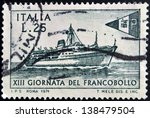 italy   circa 1971  stamp... | Shutterstock . vector #138479504