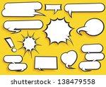Comic Speech Bubble Set  - stock vector