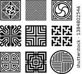 asian traditional symbol vector ... | Shutterstock .eps vector #1384802546