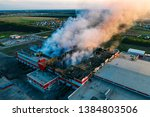heavy smoke in burning...   Shutterstock . vector #1384803506