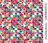 triangle geometric shapes.... | Shutterstock .eps vector #1384804913
