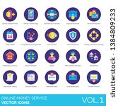 online money service icons... | Shutterstock .eps vector #1384809233