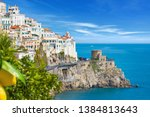 daylight view of seaside city... | Shutterstock . vector #1384813643