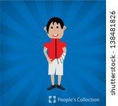 boy child  illustration | Shutterstock .eps vector #138481826