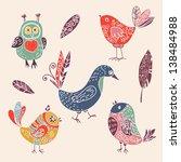 color vintage cute cartoon...   Shutterstock .eps vector #138484988