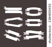 black and white ribbon.... | Shutterstock .eps vector #1384850453