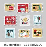 Set Of Stamps  Postage Stamp...