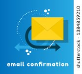 concept of email confirmation.... | Shutterstock .eps vector #1384859210